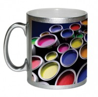 AMY Colorful Paint Cans Ceramic Mug (325 Ml)