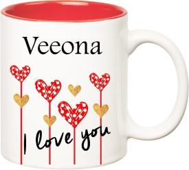 HuppmeGift I Love You Veeona Inner Red (350 ml) Ceramic Mug