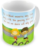 Home India Printed Design Delightful Coffee  For Siblings 532 Ceramic Mug (300 Ml)