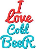 Tiedribbons I Love Cold Beer Personalized Ceramic Mug (350 Ml)