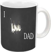 RajLaxmi I Love Dad With Nikce Design White Ceramic Mug (350 Ml)
