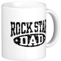 Giftsmate Rock Star Dad Mug (White, Pack Of 1)