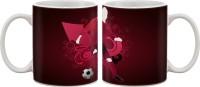 Artifa Football Player In Pink Porcelain, Ceramic Mug (350 Ml)