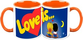 HomeSoGood Love Is Awesome ( Set Of 2) Ceramic Mug