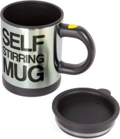 KB's Self Stirring With Lid Stainless Steel Mug (350 Ml)