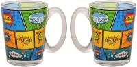 Kudos GLASS Glass Mug (280 Ml, Pack Of 2)