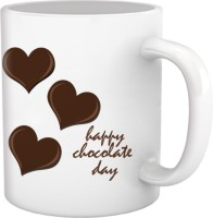Tiedribbons Heart Chocolate Day Coffee Mug (White, Pack Of 1)
