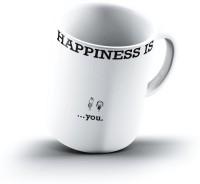 Ucard Happiness Is2088 Bone China, Ceramic, Porcelain Mug (325 Ml)