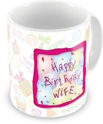 Everyday Gifts Plates & Tableware Everyday Gifts Happy Birthday Gift For Wife Ceramic Mug