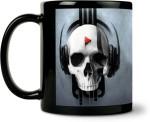 ShopMantra Plates & Tableware ShopMantra Skull Music Design Ceramic Mug