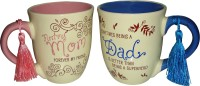 Imported Gift For Your Parents ClassiC Ceramic Mug (500 Ml, Pack Of 2)