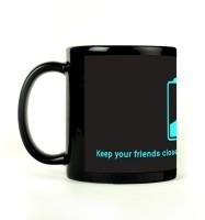 Shoprock Keep Charger Mug (Black, Pack Of 1)