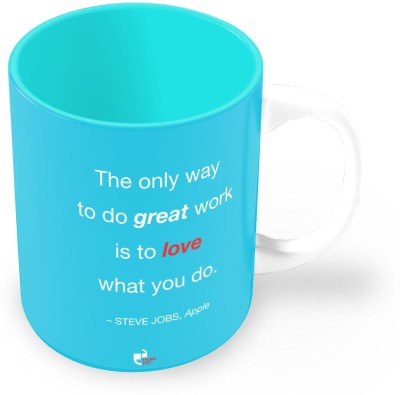 Thinkpot Plates & Tableware Thinkpot The Only Way To Do Great Work Is To Love What You Do Steve Jobs, Apple Ceramic Mug