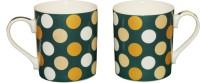 White Gold Polka Dot Ceramic Mug (300 Ml, Pack Of 2)