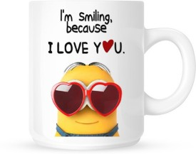 Slimthread Minions I Love You Ceramic Mug