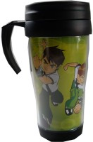AYAANGLOBALMART BEN 10 WITH LID PTFE (Non-stick) Mug (400 Ml)
