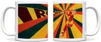 ShopMantra Iron Man In Action Black Ceramic Mug (300 Ml)