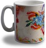 Artifa Plates & Tableware Artifa Colorful Wolves Porcelain, Ceramic Mug