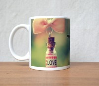 StyBuzz Mornings Are Worth Waking Up For You Valentine Porcelain Mug (300 Ml)