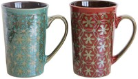 MOM Italy Jasmine 2pc  Set Ceramic Mug (400 Ml, Pack Of 2)