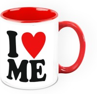 HomeSoGood I Love Being Me Quote Ceramic Mug (325 Ml)