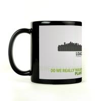 Shoprock Go Green Mug (Black, Pack Of 1)