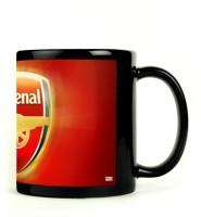 Shoprock Arsenal Football Mug (Black, Pack Of 1)