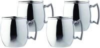 Buddha Stylish Metal S Stainless Steel Stainless Steel Mug (460 Ml, Pack Of 4)