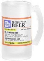 Boxmywish Funny Prescription Frosted Beer Glass Mug (500 Ml)