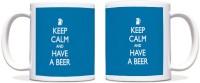 ShopMantra Keep Calm Beer Black Ceramic Mug (300 Ml)