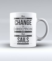Lab No. 4 When You Can'T Change The Direction Of The Wind Adjust Your Sails - H. Jackson Brown Jr Quote Ceramic Mug (350 Ml)