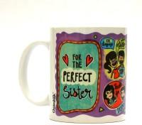 Chumbak Perfect Sister Mug Multi Colour, Pack of 1