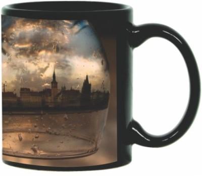 Printland Printland City Life Black Coffee  350 - ml Ceramic Mug best price on Flipkart @ Rs. 299