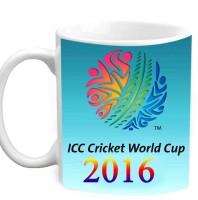 Jiyacreation1 ICC Cricket World Cup 2016 Multicolor White Ceramic Mug (3.5 Ml)
