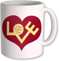 Photogiftsindia Happy Valentine Day With Love Coffee Mug (White, Pack Of 1)