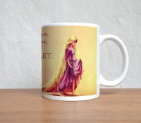 StyBuzz Follow Your Heart Ceramic Mug (300 Ml)