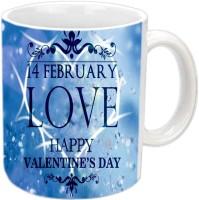 Jiya Creation1 For Love Valentine White Ceramic Ceramic Mug (3.5 Ml)