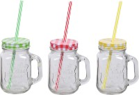 ZIDO Class Mason Jar Glass Mug (450 Ml, Pack Of 3)
