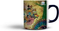 The Indian (Blue Colour Handle) Coffee Ceramic Mug
