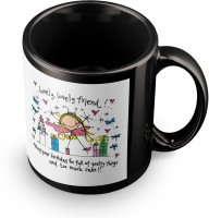 Posterchacha To The Lovely Lovely Friend Black Tea And Coffee To Give As A Birthday Gift To Loved One Ceramic Mug (350 Ml)
