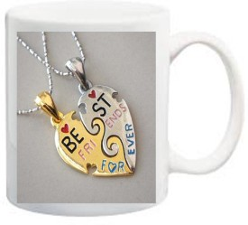 Awwsme Best Friend Forever Chain Ceramic Mug