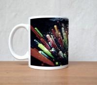 StyBuzz Striking Color Blocks Porcelain Mug (300 Ml)