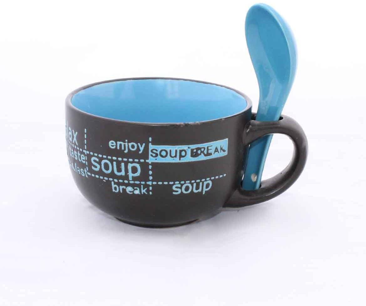 Compare Aarzool Colourful Soup Ceramic Mug at Compare Hatke