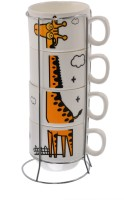 Avenue Coffee/Tea Cups-04 Ceramic Mug (125 Ml, Pack Of 4)