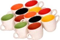Elite Handicrafts Ceramic_Tea_Cups_134 Ceramic Mug (200 Ml, Pack Of 12)