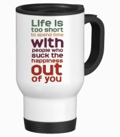 Tiedribbons Life Is To Short Travel Stainless Steel Mug (350 Ml)