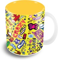 TheCrazyMe Music Doodle Coffee Ceramic Mug (325 Ml)
