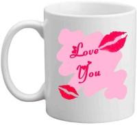 RajLaxmi Love You With Love Bite White  Ceramic Mug (350 Ml)