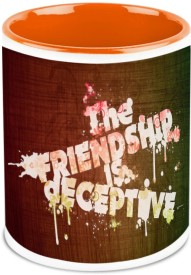 HomeSoGood Friendship Is Deceptive Ceramic Mug