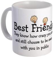 Giftsmate Best Friends Mug (White, Pack Of 1)
